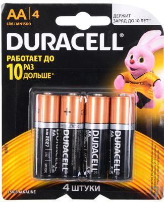 Батарейки DURACELL BASIC AA 4 шт Б0026815 duracell replacement 1 5v alkaline aa battery black golden 4 pcs