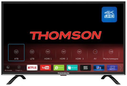 Телевизор Thomson T49USL5210 черный телевизор thomson t43d19sfs