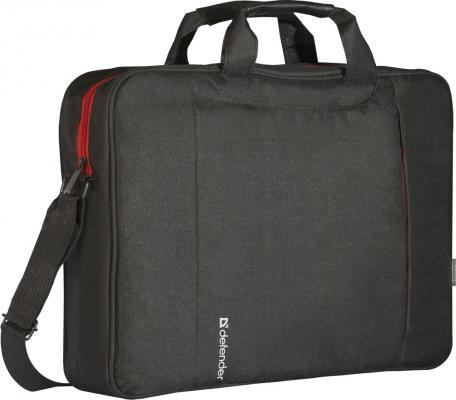 Сумка для ноутбука 15.6 Defender Geek полиэстер черный 26084 сумка для ноутбука 16 defender shiny синтетика полиэстер черный 26097
