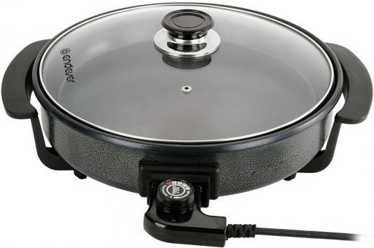 360-Wokmaster Электрическая сковорода ENDEVER,с крышкой, черный, 1500 Вт, Диаметр 36 см, глубина 7см