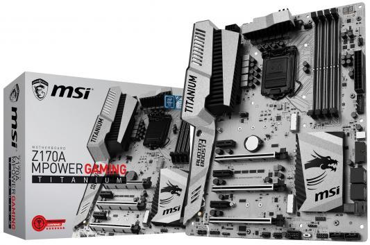 все цены на Материнская плата MSI Z170A MPOWER GAMING TITANI Socket 1151 Z170 4xDDR4 3xPCI-E 16x 3xPCI-E 1x 6xSATAIII ATX из ремонта