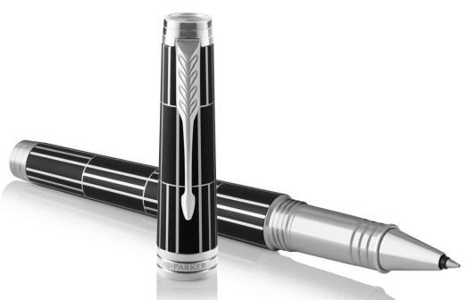 Ручка роллер Parker Premier T565 Luxury (1931403) Black CT F черные чернила подар.кор. ручка роллер parker im metal t221 black ct чернила черные корпус черный s0856350