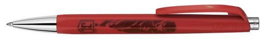 Ручка шариковая Carandache Office INFINITE FLASH/CYBORG (888.705) белый/красный подар.кор.