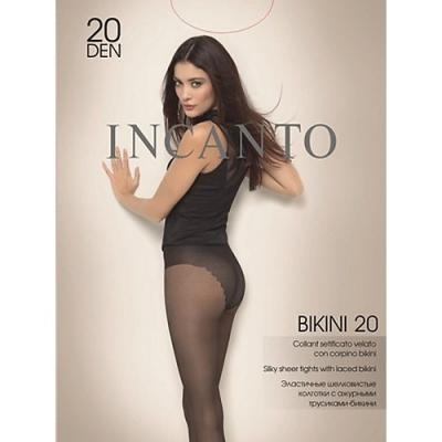 Incanto Колготки Bikini 20 Nero, 3 halter crisscross cropped bikini set