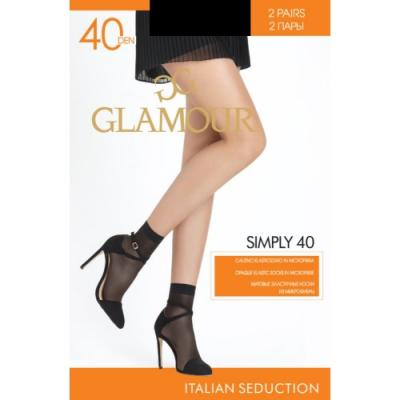 Glamour Гольфы Symphony 40 Gb*2 Nero, U/A