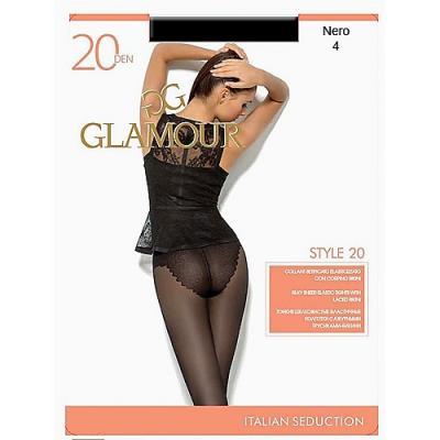 Glamour Колготки Style 20 Nero, 4 журнал glamour style book