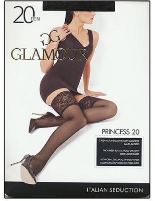 Чулки GLAMOUR Princess AUT 2 20 den лёгкий загар чулки omsa malizia размер 4 плотность 20 den caramello