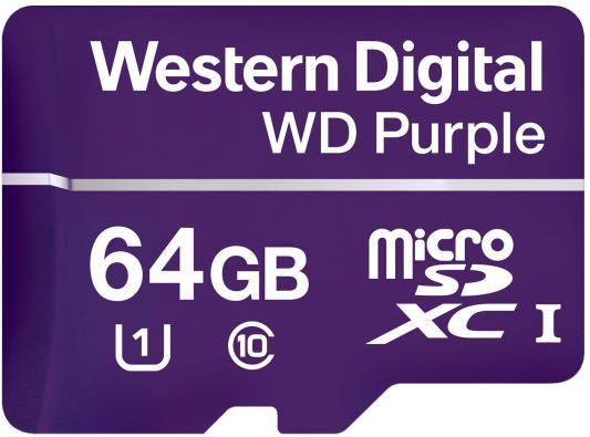 Карта памяти MICRO SDXC 64GB UHS-I WDD064G1P0A WDC карта памяти micro sdxc sony 64gb class 10 uhs i u1 sr64uyat