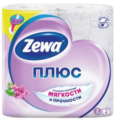 Бумага туалетная Zewa Плюс 2-ух слойная ароматизированная 4 шт 144108 бумага туалетная мягкий знак deluxe 2 ух слойная без отдушки 4 шт