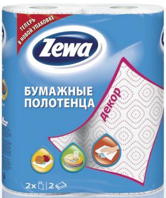 ZEWA Полотенца кухонные 2-ух слойные Декор 2шт цена