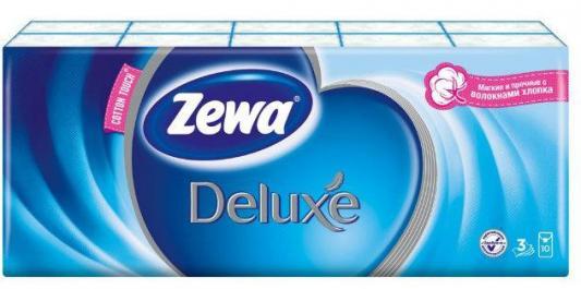 ZEWA Платки носовые Делюкс 3-ех слойные Фемали 10шт.х 10