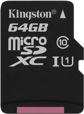 лучшая цена Карта памяти MicroSDXC 64GB Kingston Canvas Select 80R CL10 UHS-ISP (SDCS/64GBSP)