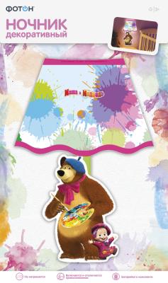 Фото - Ночник декоративный Маша и Медведь, Художники ночник декоративный фотон маша и медведь маша и чтение dnm 01