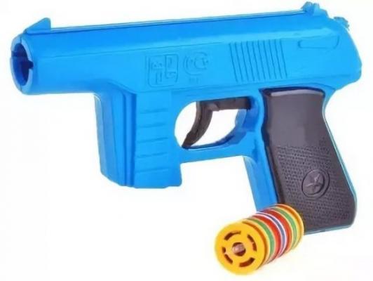 Пистолет Форма Пистолет с дисковыми пулями синий черный С-21-Ф пистолет с пистонами edison giocattoli uzimatic