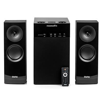 Колонки Dialog Progressive AP-250 BLACK 2.1, 50W+2*15W RMS, Караоке, Bluetooth, FM+USB+SD, Опт.вх. колонки dialog disco ad 06 black 24w rms 2 0