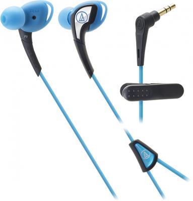 Наушники AUDIO-TECHNICA ATH-SPORT2 BL вставные наушники audio technica ath sport2 black
