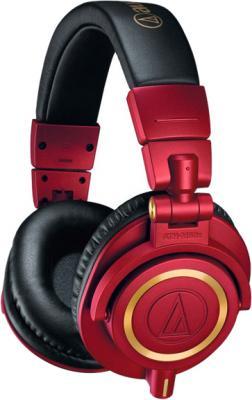 Наушники AUDIO-TECHNICA ATH-M50XRD Дуговые закрытого типа наушники audio technica ath m50xrd red