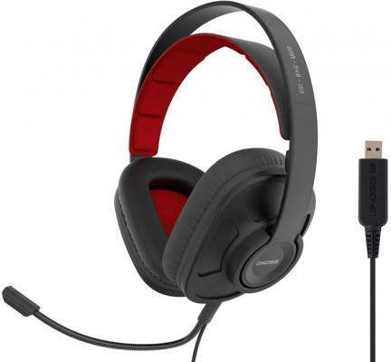 Гарнитура KOSS GMR-540-ISO USB черный красный цена и фото
