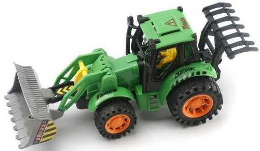 Трактор Наша Игрушка Трактор зеленый 358-8 трактор tomy john deere зеленый 19 см с большими колесами звук свет