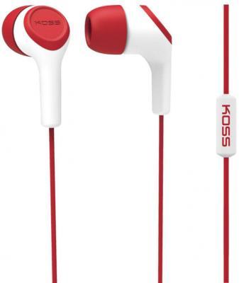Наушники KOSS KEB15i R Red (микрофон,вставные,1,2м) наушники koss keb15i azure