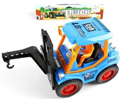 Инерционная машинка Наша Игрушка Погрузчик с краном голубой 51868-2 игрушка наша игрушка погрузчик вилочный 6655 7