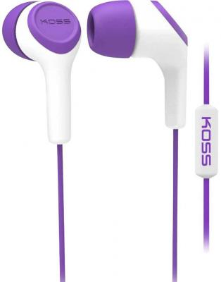 Наушники KOSS KEB15i Violet (микрофон,вставные,1,2м) вставные наушники philips she 1450 wt