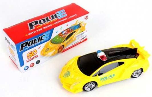 Полицейская машина Наша Игрушка Полиция желтый 399B-01 инерционная игрушка clementoni полицейская машина
