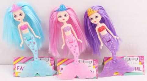 Купить Кукла Наша Игрушка Русалочка 20 см Y001-3, пластик, текстиль, Классические куклы и пупсы