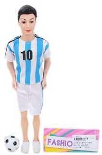 Кукла Наша Игрушка Кукла-футболист 29 см 104-6A кукла наша игрушка кукла футболист 29 см 104 6a