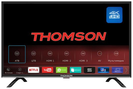 Телевизор Thomson T55USL5210 черный телевизор thomson t43d19sfs