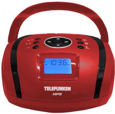 Магнитола Telefunken TF-SRP3449(красный с черным) цена