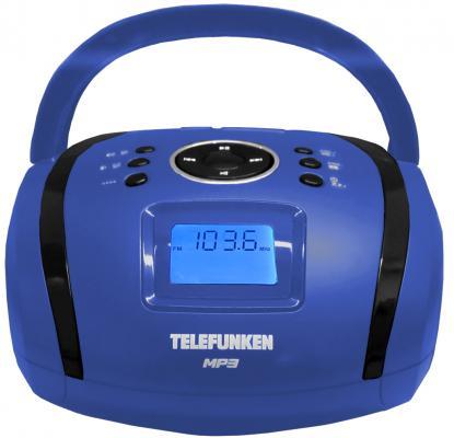 Магнитола Telefunken TF-SRP3449(синий с черным) цена