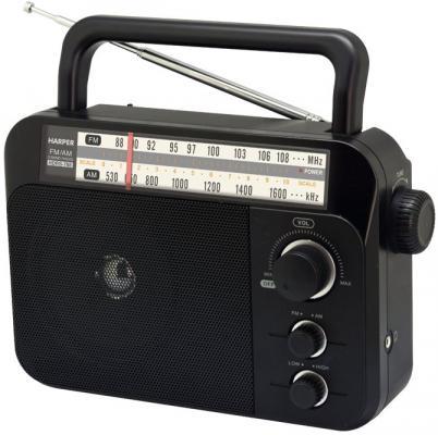 Радиоприемник HARPER HDRS-788 Черный, 3Вт, Разъем для наушников