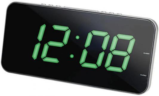 купить Часы с радиоприёмником Max CR-2909 серебристый чёрный по цене 1990 рублей