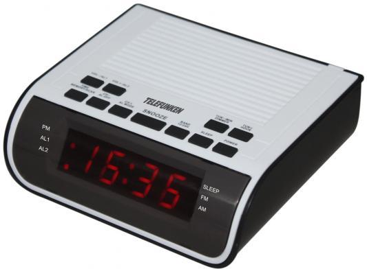 Часы с радиоприемником TF-1591(черный//белый с красным)