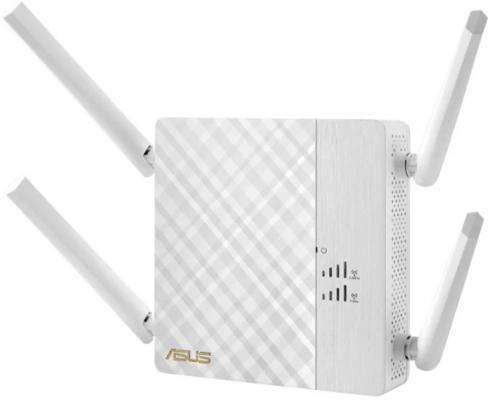Усилитель сигнала ASUS RP-AC87 802.11abgnac 1734Mbps 5 ГГц 2.4 ГГц 1xLAN LAN белый беспроводная точка доступа asus ea ac87 802 11ac 1734mbps 5ггц