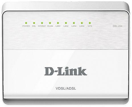 Маршрутизатор D-Link DSL-224/T1A Беспроводной маршрутизатор VDSL2 с поддержкой ADSL2+