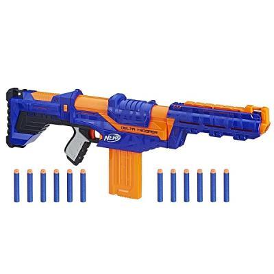 Бластер Hasbro Нёрф Элит Дельта синий E1911 игрушка нёрф элит микрошот бластер в ас те