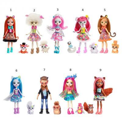 Купить Игрушка Enchantimals Кукла с питомцем, MATTEL, пластик, текстиль, Классические куклы и пупсы