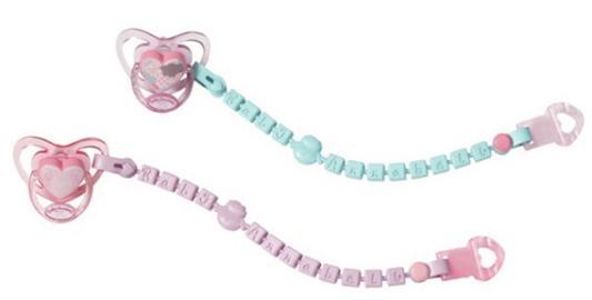 Соска Zapf Creation Соска с цепочкой zapf creation аксессуар для куклы baby annabell соска с цепочкой цвет розовый