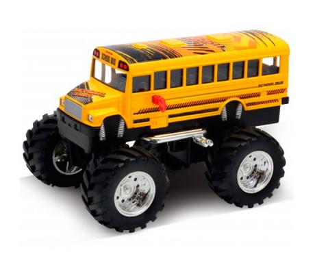 Фото - Автомобиль Welly School Bus Big Wheel Monster 1:34-39 желтый игрушка модель машины 1 34 39 chevrolet tahoe big wheel monster