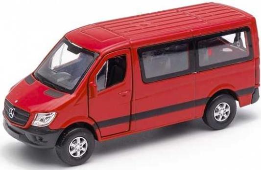 Автомобиль Welly Mercedes-Benz Sprinter 1:50 красный 43731 автомобиль welly уаз 31514 военная автоинспекция 1 34 39 зеленый 4891761238070