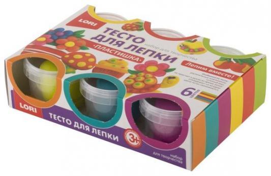 Тесто для лепки, 6цв. по 80 гр. lori тесто для лепки пластишка 6цв по 80 гр