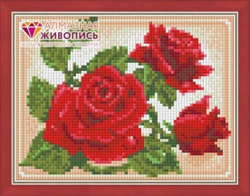Алмазная живопись Молодая роза 15х20 мировая живопись