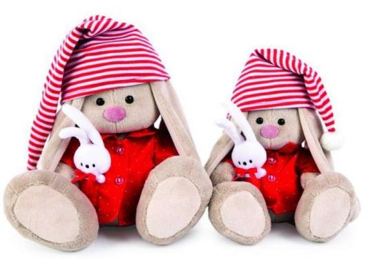 Мягкая игрушка зайка Зайка Ми Зайка Ми в красной пижаме искусственный мех наполнитель пластмасса 23 см шапка унисекс с полной запечаткой printio зайка