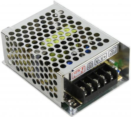 Блок питания ORIENT PB-0205 Импульсный блок питания, AC 100-240V/ DC 12V, 2.0A, стабилизированный, защита от КЗ и перегрузки, ручная рег-ка Uвых, винт gakaki ac to dc power adapter 100 240v supply charger adapter 12v 2a us eu plug for cctv led strip lamp