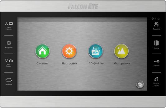 Видеодомофон Falcon Eye FE-101 ATLAS (Black) AHD дисплей 10 TFT; сенсорные кнопки; подключение до 2-х вызывных панелей и до 2-х видеокамер; адресный видеодомофон tantos prime white цв tft lcd 7 сенсорные кнопки джойстик hands free 2 вх для вызывных панелей 2 вх для видеокамер до 4шт в