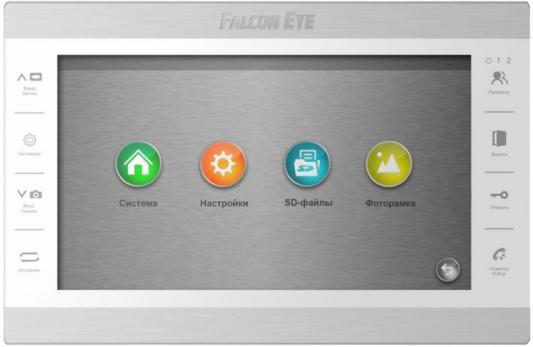 Видеодомофон Falcon Eye FE-101 ATLAS (White) AHD дисплей 10 TFT; сенсорные кнопки; подключение до 2-х вызывных панелей и до 2-х видеокамер; адресный видеодомофон tantos prime white цв tft lcd 7 сенсорные кнопки джойстик hands free 2 вх для вызывных панелей 2 вх для видеокамер до 4шт в