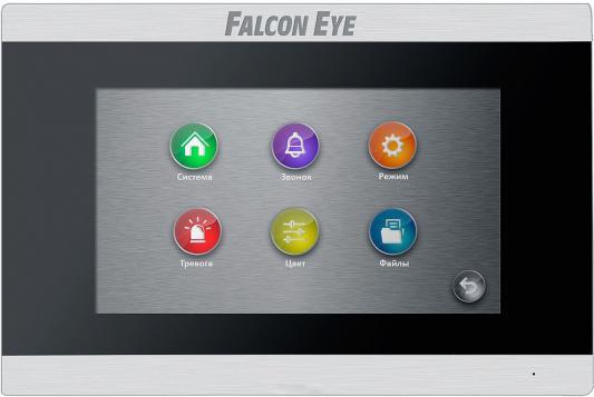 Видеодомофон Falcon Eye FE-70 ARIES (Black) дисплей 7 TFT; сенсорный экран; подключение до 2-х вызывных панелей и до 2-х видеокамер; интерком; графи видеодомофон kocom kcv a374 black