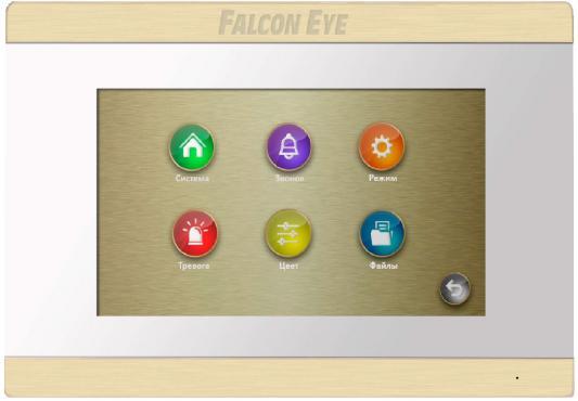 Видеодомофон Falcon Eye FE-70 ARIES (White) дисплей 7 TFT; сенсорный экран; подключение до 2-х вызывных панелей и до 2-х видеокамер; интерком; графи видеодомофон tantos prime white цв tft lcd 7 сенсорные кнопки джойстик hands free 2 вх для вызывных панелей 2 вх для видеокамер до 4шт в